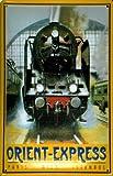 Blechschild Orient Express Eisenbahn Dampflokomotive Nostalgieschild retro Schild