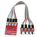 1 Module Suivi Infrarouge de 4 Canaux PC Réglé Ie Capteur de Réflexion Carte PCB D'évitement D'obstacle Voiture Futée