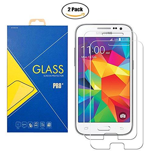 [2 Pack] Pellicola Vetro Temperato Samsung Galaxy Core Prime SM-G360 / G360F / G360H / G361 / G361F / G3608 / G3609 / 360 / 361 / 3608 / 3609 - Schermo Antiurto Antigrafio