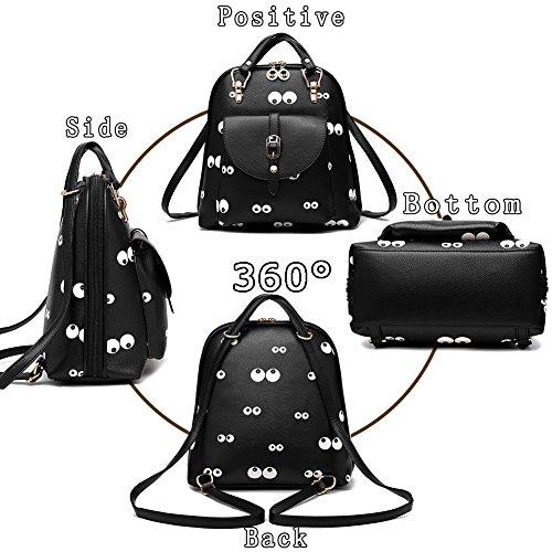 G-AVERIL GA1160-B2, Borsa a zainetto donna Black2 Black1