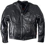 Leather Motorcycle Jacket (Black, Size 38)