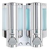 Better Living Aviva Seifenspender für 1 Flasche, Satin Silver 2-Chamber Chrome