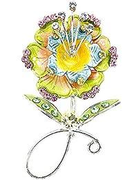 Glamorousky Blumenbrosche Mit Multi-Color- Austrian Elements -Kristallen (938)