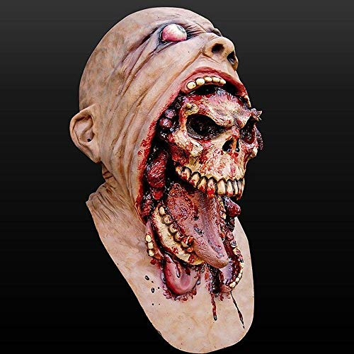 ~ Zombie Realistische Gruselige Halloween-Kostüm Cosplay Prank Tragen Hood Creepy Mask