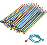 CCINEE Soft Flexible Bendy Pencils Magic Bend Kids Children School Fun Equipment For Party Bags Fillers Pack of 50