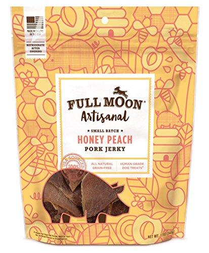 Full Moon Artisanal Honey Peach Pork Jerky All Natural Human Grade Dog Treats 12 oz  available at amazon for Rs.2840
