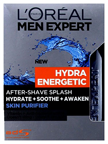 L'Oreal Men Expert Hydra Energetic After-Shave Splash 100ml/ Für Den Mann/Rasierwasser