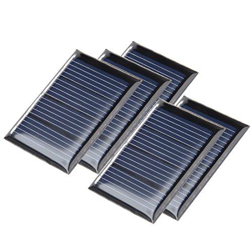 sourcingmap® 5Stk 2V 60mA Poly Mini Solar Paneel DIY für Phone Spielzeug Ladegerät
