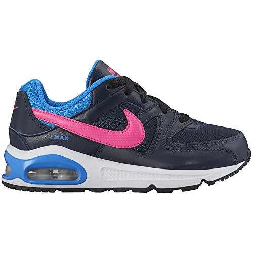 Nike Air Max Command (Ps), Chaussures de Sport Fille, Gris Multicolore - Negro / Rosa / Azul (Obsidian / Pink Pow-Photo Blue)