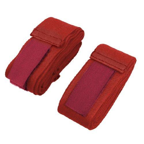 Pair Red Cotton Sports Boksen Hand Wrap pols Wraps -