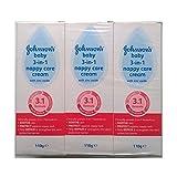 Johnsons Baby 3 en 1 crema de cuidado de pañales con óxido de zinc - 6 x 110gm
