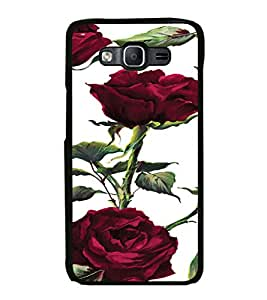 ifasho Animated Pattern colorful rose flower with leaves Back Case Cover for Samsung Galaxy On 7