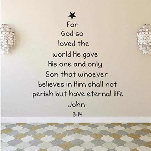 Fushoulu 57X66 Cm Bibel Vers Weihnachtsbaum Wandtattoo Removable Bible Vers Wandkunst Aufkleber Home Decaoration Weihnachten Fenster Wandbilder Kunst