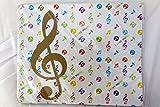 Musique à thème en or blanc Treble Clef notes de musique Tapis de souris