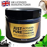 Activated Charcoal Powder - Teeth Whitener Made in The UK - Activated Charcoal Teeth Whitening for Whiter, Brighter Teeth Quickly - Teeth Whitening Kit 80ml