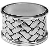 Servetring ovaal 5,5 cm zilver plated verzilverd voor stoffen servetten in premium afwerking
