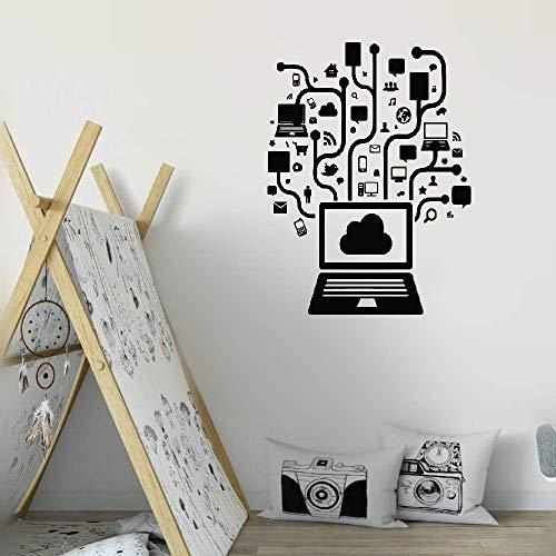 Wandaufkleber Kinderzimmer Wandtattoo Schlafzimmer Computer Computer-on-line-soziales Netz-Gamer-Internet-jugendlich PC-Büro-Raum-Inneneinrichtung