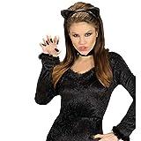 Katzen Haarreif Katzenohren Kopfbügel schwarz Katze Ohren Haarreifen Kostüm Zubehör Accessoire