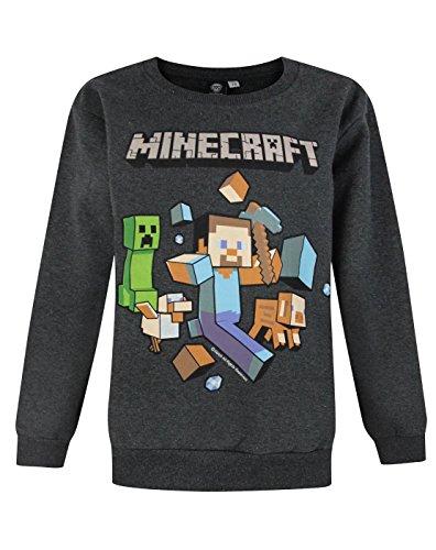 Ragazzi-Minecraft-Minecraft-Maglione Charcoal 3-4 Anni