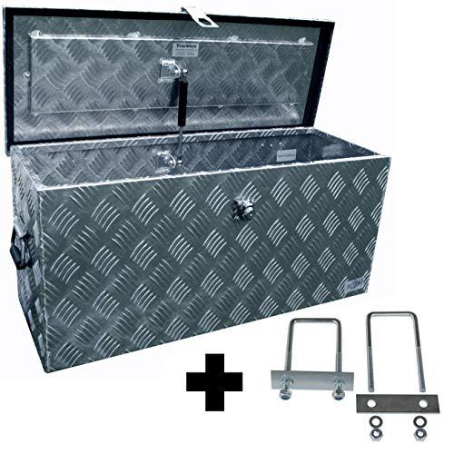 *Truckbox D080 inkl. MON4002 Edelstahlhaus Werkzeugkasten, Deichselbox, Transportbox, Alubox, Alukoffer, Deichselkasten, inkl. Montagesatz, Montageset*