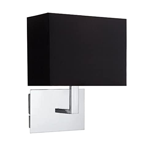 amazon uk bedroom wall lights. onepre modern polished chrome wall lights bed reading light with black fabric shade, hotel style bedside lamp for living room bedroom: amazon .co.uk: uk bedroom