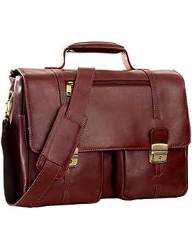 STILORD 'Robin' Vintage Businesstasche Leder Aktentasche für Damen und Herren Schloss 15,6 Zoll Laptopfach elegante...
