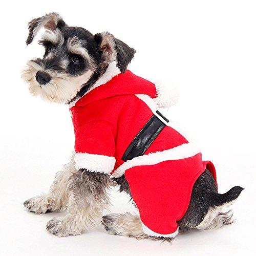 py Christmas Gift Haustier Geschenk Hundekleidung Jumper Santa Kostüm 4 Größen (fang pets store) (Color : Red, Size : S) (Fang Des Tages Kostüme)