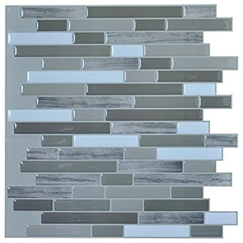 Art3d Peel and Stick Wall Tile for Kitchen / Bathroom Backsplash, 12