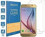 PREMYO 2 Stück Panzerglas für Samsung Galaxy S6 Schutzglas Display-Schutzfolie für Galaxy S6 Blasenfrei HD-Klar 9H 2,5D Echt-Glas Folie kompatibel für Samsung S6 Gegen Kratzer Fingerabdrücke