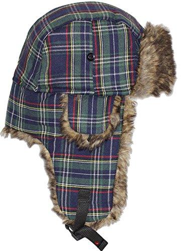 I Luv LTD Superbe chapeau de trappeur avec Click-Lock sécurisé àGreen Tartan écossais