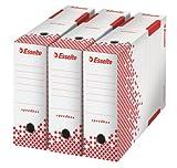 Esselte Speedbox Lot de 25 Boites archives dos automatiques 80 mm Blanc