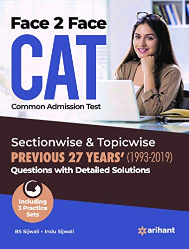 Face To Face CAT 27 years Sectionwise & Topicwise solved paper 2019
