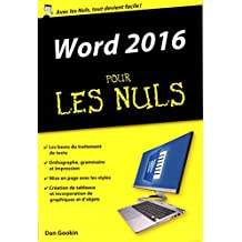 Word 2016 pour les Nuls poche