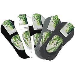 Sock unsichtbar reine Faser aus Bambus, (Packung mit 5) 100 % natürlich, Anti-Bakterien- und Anti-Allergenique. (5er Pack)