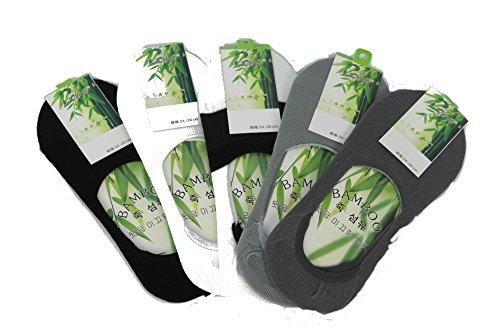 Sock unsichtbar reine Faser aus Bambus, (Packung mit 5) 100 % natürlich, Anti-Bakterien- und Anti-Allergenique. (5er Pack) (Socken Womens Quartal)