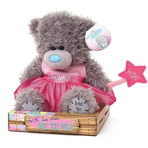 Me To You SG01W4081 6-Inch Tall Tatty Teddy Granddaughter Wearing Pink Dress Plush Toy