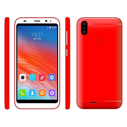 Sim - Freien Smartphone, Hyrich 5.0inch Android Gehen 6,0 & MTK6580 1GB RAM + 8GB ROM Dual - Sim - Dual Kamera Webcam Offen 3G - Handy (Rot) (Rot)