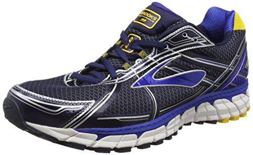 Brooks Defyance 9, Chaussures de Running Compétition Homme Bleu (Schwarz/Blau/Gelb)
