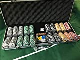 Set 500 fiches poker abs con inserto in metallo 14g texas hold'em