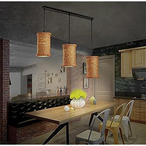país de América lámpara de hierro forjado altillo cuerda de la personalidad creativa de la lámpara de la vendimia Restaurante Bar Cafetería Bar ( Diseño : Straight Plate