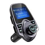 OMorc FM-Transmitter Bluetooth KFZ Wireless Radio Adapter, FM Transmitter Empfänger mit Mikrofon, 2...