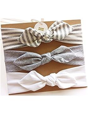Vellette Baby Stirnbänder Mädchen Stretch Nett Kaninchenohren Gedruckt Turban Stirnband Kopf Verpackung Haarband