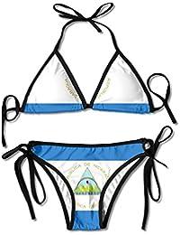 Bikini Swimsuit For Women Two Pieces Dinosaur Animal Push Up Triangle Bikinis