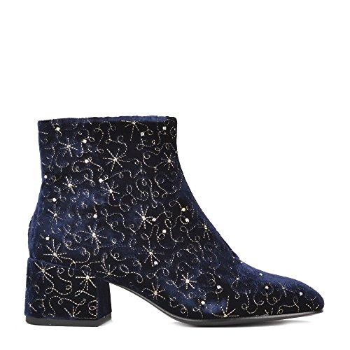 Ash DIAMOND BIS Boots Midnight Blue Velvet 41 Midnight