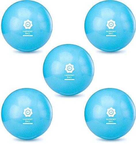 Pilates Ball Mini pelota & 18cm/23cm, sin ftalatos/hinchable y berstsicher | diferentes tamaños y sets | de Harmony Ball®, color 5 x Aquablau, tamaño 23 cm