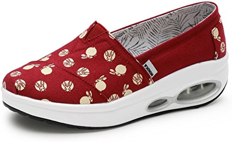 Zapatos de Mujer Shake, Zapatos de Lona nuevos de Verano Sacudiendo, Mocasines y Slip-Ons Zapatos Perezosos Antideslizantes...