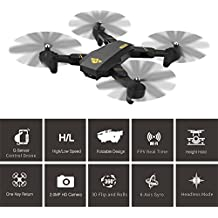 Drohne Togather Faltbar Taschendrohne RC Quadcopter Drone mit HD Kamera WIFI FPV Höhehalten Funktion