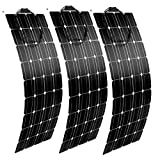 AUECOOR AUECOOR 300 Watt 12 Volt flexibles Solar-Panel biegbar leicht wasserdicht Off-Grid Solar Power System Ladegerät für Wohnmobil, Camping, Boot, Wohnmobil und 12 V/24 V Akku Aufladung