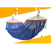 Selvatico anti-ribaltamento individuale Ice seta Mesh Amaca altalena doppia rete singola coperta Hammock Classic Blu 210 * 150 cm - Singola Corda Di Cotone