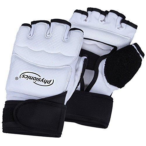 Physionics Freefight Handschuhe MMA Boxhandschuhe (Größenwahl S-XL) Punchinghandschuhe mit Handgelenkverstärkung und Klettverschluss